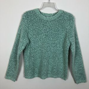 Croft & Barrow Light Green Boucle Sweater